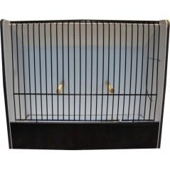 Cage exposition exotique noir en PVC