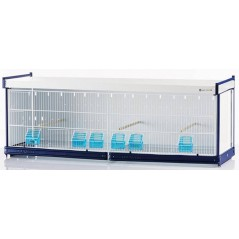 Batterie de cages Erica ART.73 avec système papier - Italgabbie