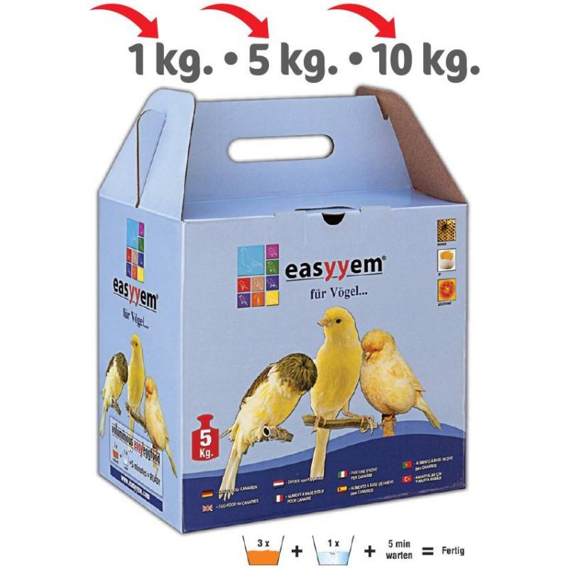 Patée met ei voor kanaries 5kg - Easyyem EASY-PCAR5 Easyyem 18,45 € Ornibird