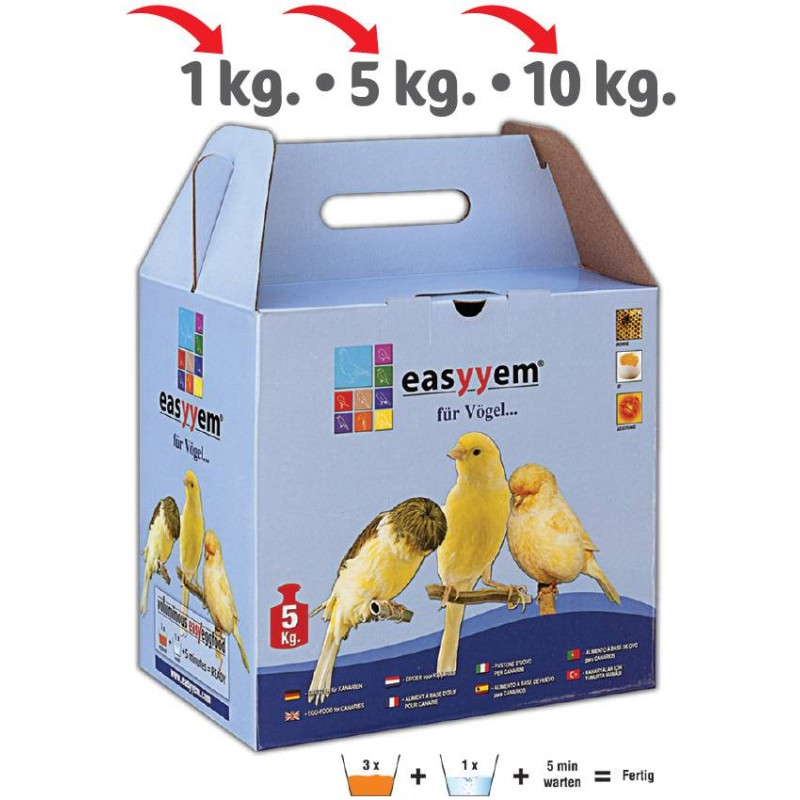 Patée with egg for canaries 5kg - Easyyem EASY-PCAR5 Easyyem 18,45 € Ornibird