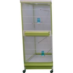 Batterie de cages Gardénia ART.GAR avec tiroir et eclairage leds - Italgabbie