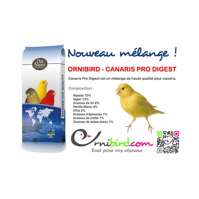 ORNIBIRD - CANARIES PRO DIGEST 20kg, mixing high quality for the canaries - Deli-Nature 700126 Deli-Nature 34,95 € Ornibird