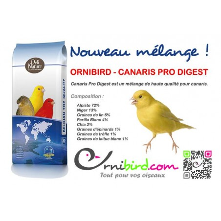 ORNIBIRD - CANARIS PRO DIGEST 20kg, mélange haute qualité pour canaris - Deli-Nature 700126 Deli-Nature 36,97 € Ornibird