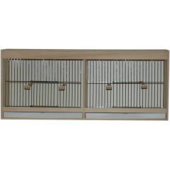 Cage d'entrainement avec tiroir en façade - 2 compartiments