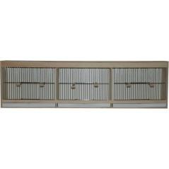 Cage d'entrainement avec tiroir en façade - 3 compartiments