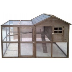 Chicken coop in wood with area of pasture 196 x 108 x 95 cm - Kinlys 24198 Benelux 335,40 € Ornibird