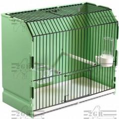 Cage exposition verte en plastique 36x17x30 cm - 2G-R