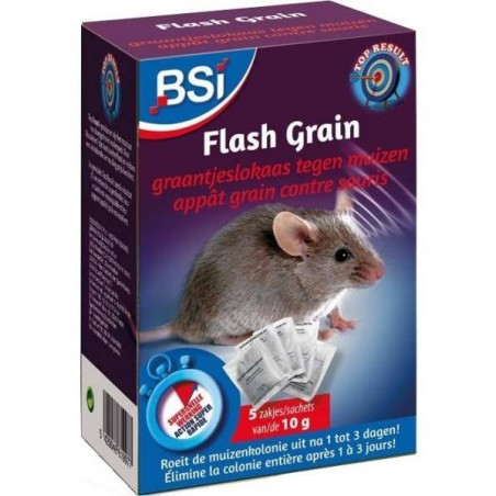 Flash Grain, pellets against the mice, 5 sachets of 10gr - BSI 61997 BSI 7,95 € Ornibird