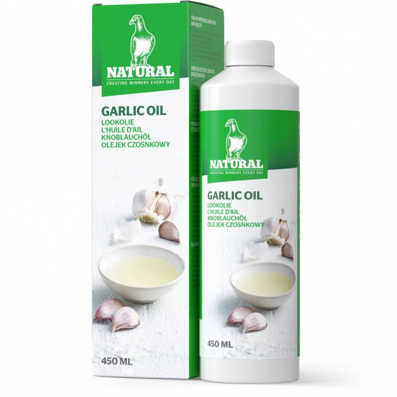 Garlic oil 450ml - Natural Pigeons 30009 Natural 13,03 € Ornibird