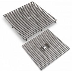 Caillebotis - Grilles en plastique 38 x 38 cm avec pieds amovibles