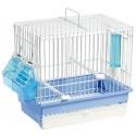 Cage Cardellina Blanche avec tiroir et grille de fond 27,5 x 17 x 24,5cm - S.T.A. Soluzioni
