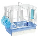 Cage Cardellina White with drawer and floor grid 27.5 x 17 x 24.5 cm - S. T. A. Soluzioni