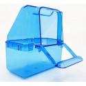 Mangeoire cage Italienne bleue 7x4x8cm - 2G-R