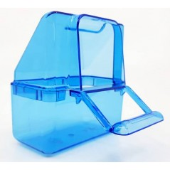 Mangeoire cage Italienne bleue 7x4x8cm