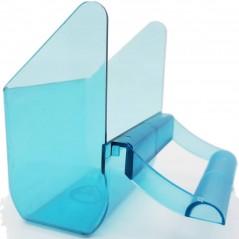 Feeder outdoor blue transparent 7.2 x 4 x 7.8 cm - Ost Belgium