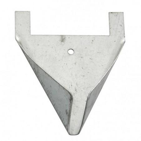 Porte perchoir metal 8x10,5cm
