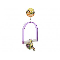 Jouet Perche en acrylique avec corde à noeufs 35cm