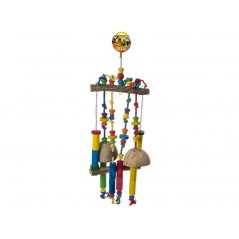Jouet Perche avec corde à noeufs et échelle de noix de coco