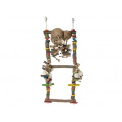 Jouet Perche en bois double avec échelle de noix de coco 14010 Benelux 46,05 € Ornibird