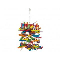 Jouet Corde à noeuds avec blocs en bois 70cm