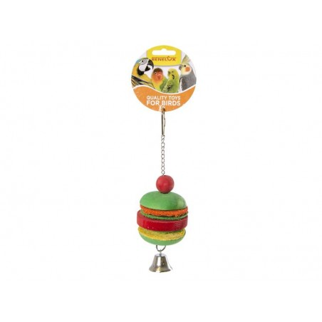 Toy Hamburger in wood with bell