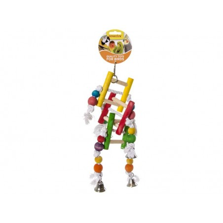 Toy Rope knots with wooden ladder