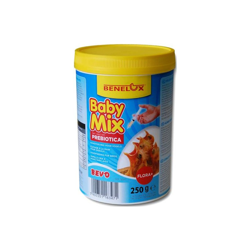 Baby Mix 250gr, food for livestock by hand with prebiotics - Benelux 16348 Benelux 4,95 € Ornibird