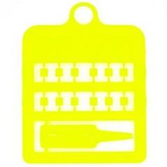 Bagues fendues E-Z par 12 pièces - Taille: 3 mm - Couleur: Jaune Fluo 850SR3-Fluo Yellow Rings 4 Wings 1,95 € Ornibird