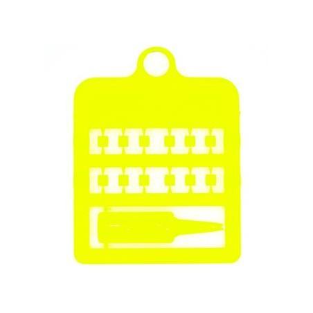 Bagues fendues E-Z par 12 pièces - Taille: 3 mm - Couleur: Jaune Fluo