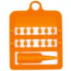 Bagues fendues E-Z par 12 pièces - Taille: 3 mm - Couleur: Orange Fluo 850SR3-Fluo Orange Rings 4 Wings 1,95 € Ornibird