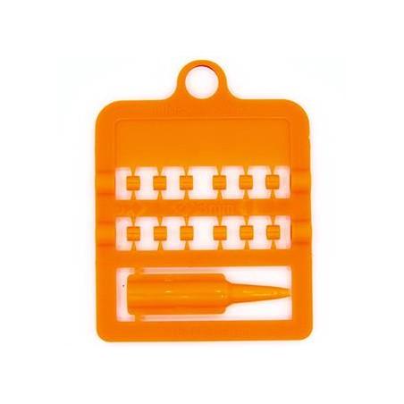 Bagues fendues E-Z par 12 pièces - Taille: 3 mm - Couleur: Orange Fluo