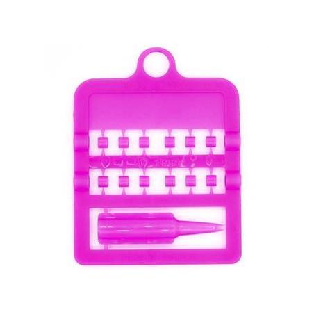 Bagues fendues E-Z par 12 pièces - Taille: 3 mm - Couleur: rose