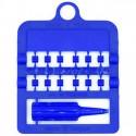 Bagues fendues E-Z par 12 pièces - Taille: 3 mm - Couleur: Bleu Foncé
