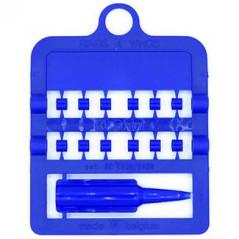 Bagues fendues E-Z par 12 pièces - Taille: 3 mm - Couleur: Bleu Foncé 850SR3-Baltic Blue Rings 4 Wings 1,95 € Ornibird