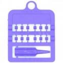 Bagues fendues E-Z par 12 pièces - Taille: 3 mm - Couleur: Violet