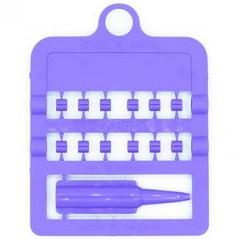 Bagues fendues E-Z par 12 pièces - Taille: 3 mm - Couleur: Violet 850SR3-Violet Rings 4 Wings 1,95 € Ornibird