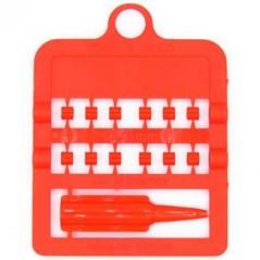 Bagues fendues E-Z par 12 pièces - Taille: 3 mm - Couleur: Rouge 850SR3-Red Rings 4 Wings 1,95 € Ornibird