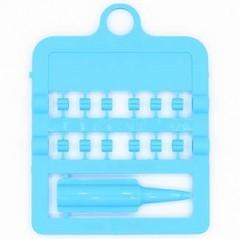 Bagues fendues E-Z par 12 pièces - Taille: 3 mm - Couleur: Bleu Ciel 850SR3-Light Blue Rings 4 Wings 1,95 € Ornibird
