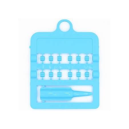 Bagues fendues E-Z par 12 pièces - Taille: 3 mm - Couleur: Bleu Ciel