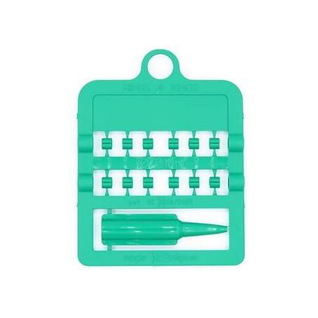 Bagues fendues E-Z par 12 pièces - Taille: 3 mm - Couleur: Vert