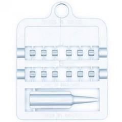 Bagues fendues E-Z par 12 pièces - Taille: 3 mm - Couleur: Argent 850SR3-Silver Rings 4 Wings 1,95 € Ornibird
