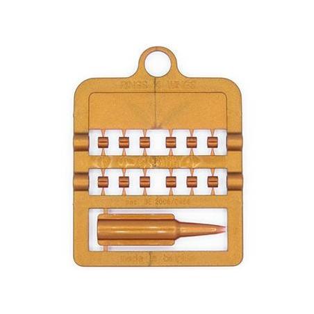 Bagues fendues E-Z par 12 pièces - Taille: 3 mm - Couleur: Cuivre