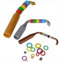 Kit et assortiment de bagues élastiques colorés - Taille: 3 mm