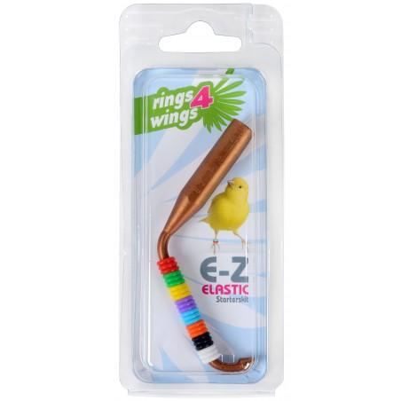Pistolet + assortiment de bagues élastiques colorés - Taille: 2 mm