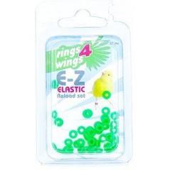 Bagues élastiques E-Z par 50 pièces - Taille: 2mm - Couleur: vert