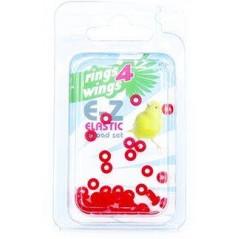 Bagues élastiques E-Z par 50 pièces - Taille: 2mm - Couleur: Rouge