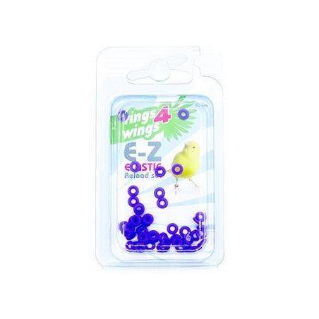 Bagues élastiques E-Z par 50 pièces - Taille: 2mm - Couleur: Violet