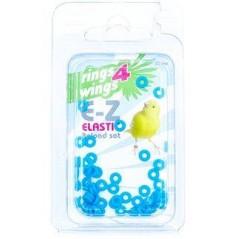 Bagues élastiques E-Z par 50 pièces - Taille: 2mm - Couleur: Bleu