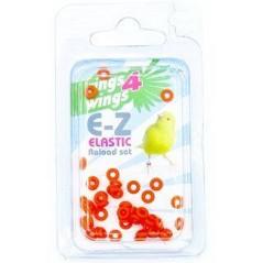 Bagues élastiques E-Z par 50 pièces - Taille: 2mm - Couleur: Bleu 880ERR02-Orange Rings 4 Wings 5,95 € Ornibird
