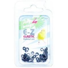 Bagues élastiques E-Z par 50 pièces - Taille: 2mm - Couleur: Bleu 880ERR02-Noir Rings 4 Wings 5,95 € Ornibird